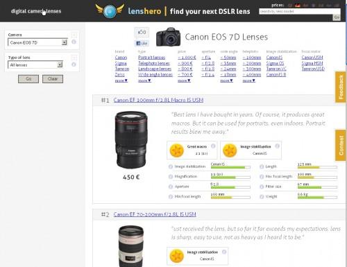 LensHero Lenses By Camera