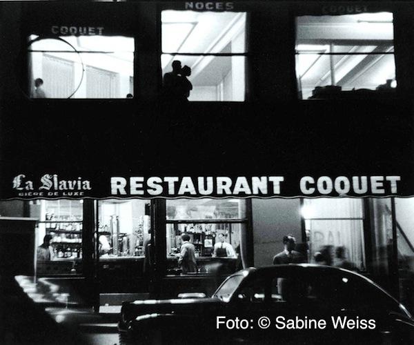07 Sabine Weiss, Le restaurant Coquet, Paris 1953