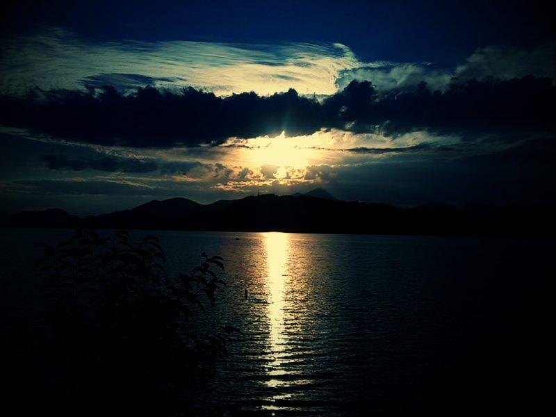 Sunset on Liptovska Mara