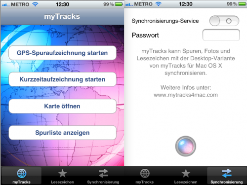 myTracks iPhone App