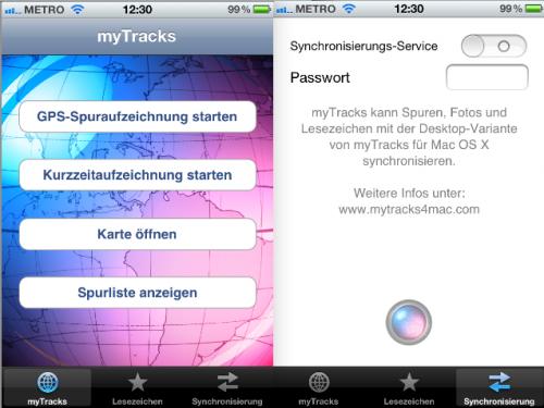 myTracks iPhone App