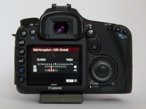 AEB Erste Gruppe: Aufnahmen mit -3, -2, -1 Blenden