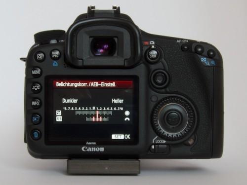 AEB Zweite Gruppe: Aufnahmen mit richtiger Blende, +1, +2 Blenden