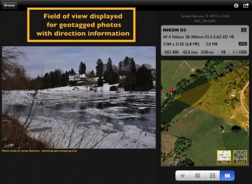 PhotoMeta GPS Daten mit Blickrichtung
