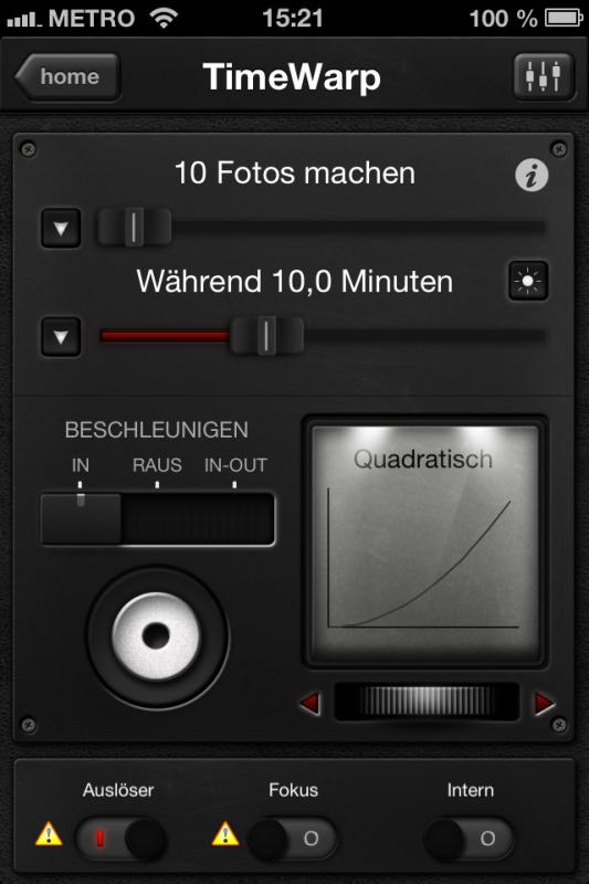Triggertrap App (iOS) - Auslöser 4