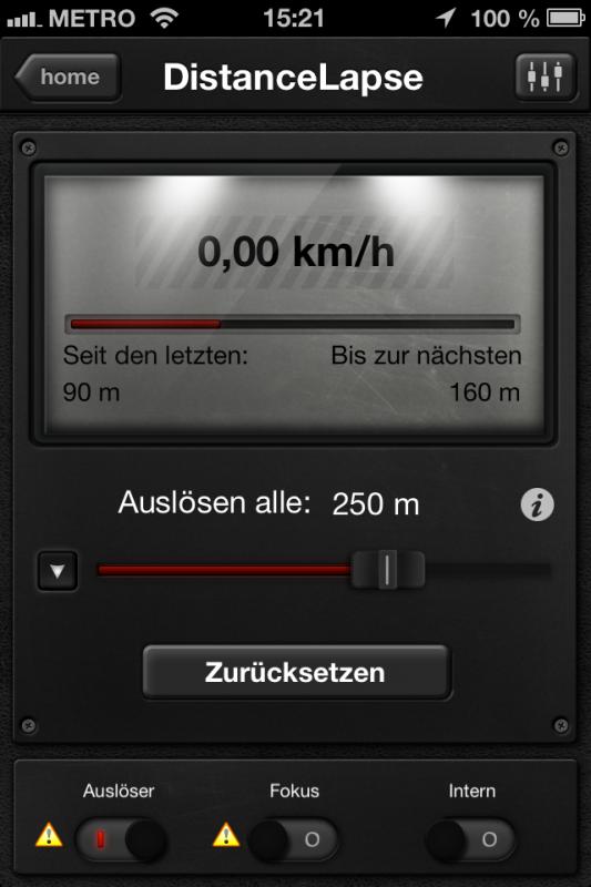 Triggertrap App (iOS) - Auslöser 5