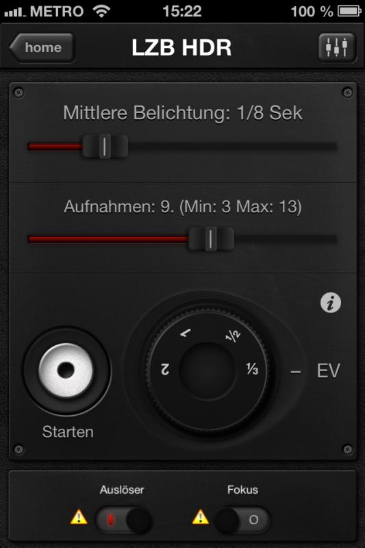 Triggertrap App (iOS) - Auslöser 9