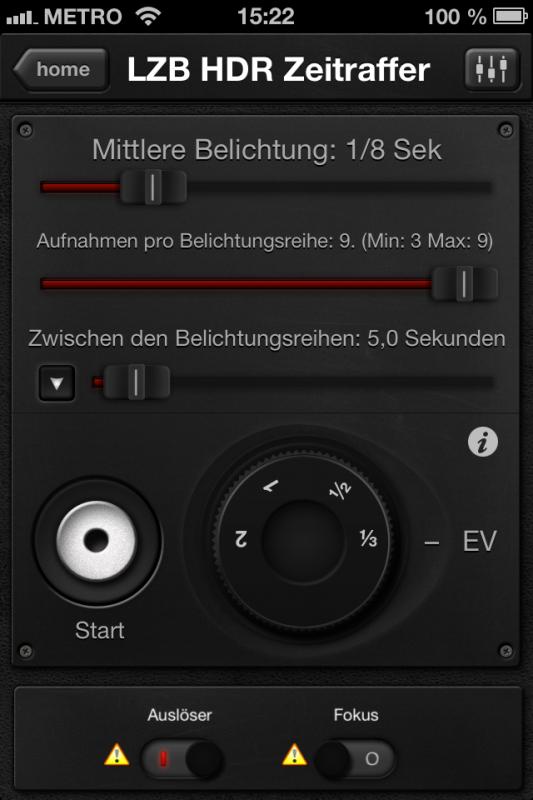 Triggertrap App (iOS) - Auslöser 10