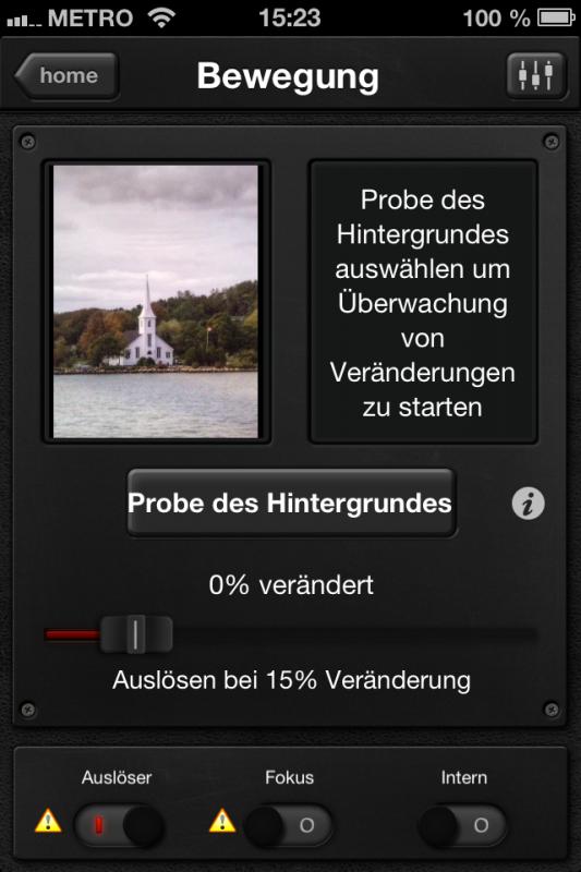 Triggertrap App (iOS) - Auslöser 12