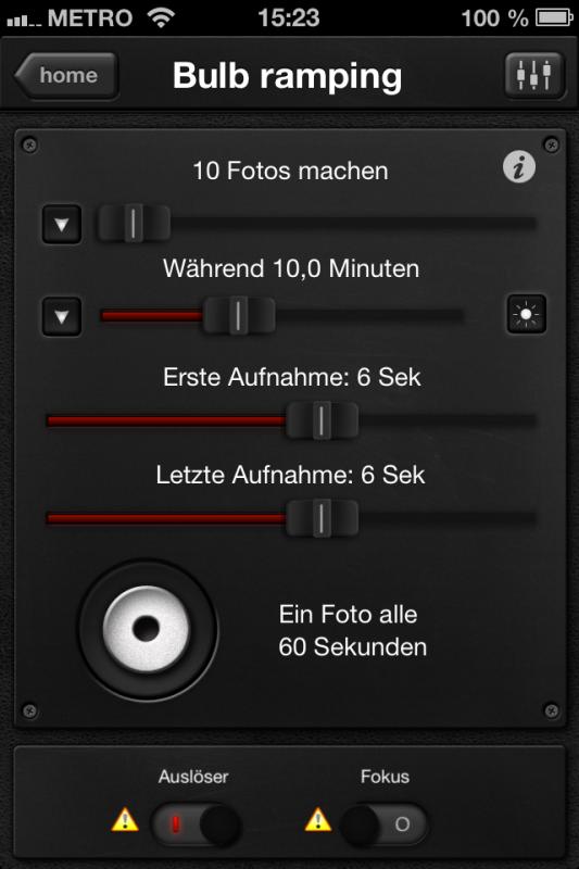 Triggertrap App (iOS) - Auslöser 13