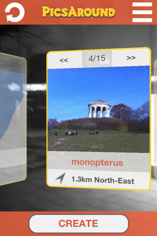 PicsAround: Foto-Kompass