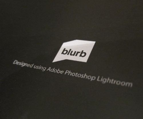 blurb book designed using Lightroom