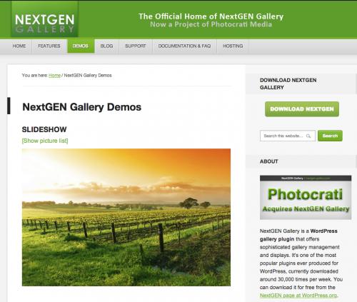 NextGEN Galerie für WordPress