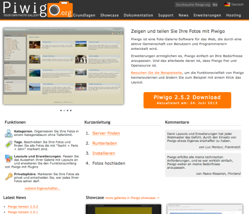 Piwigo – Web-Fotogalerie
