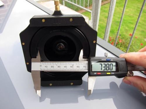 die Öffnung für den Lichteinfall ins Objektiv beim Lee Adapter Ring