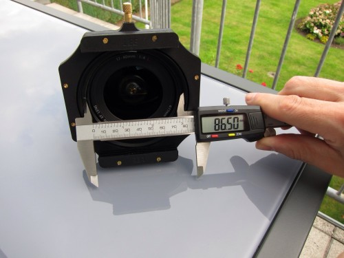 die Öffnung für den Lichteinfall ins Objektiv beim Badpter