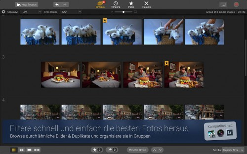 Snapselect Fotos Filtern