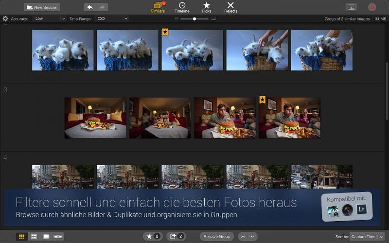 Snapselect Fotos Filtern