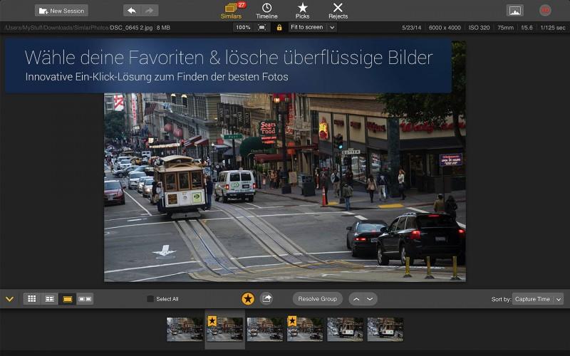 Snapselect einfaches Aus- oder Abwählen von Fotos