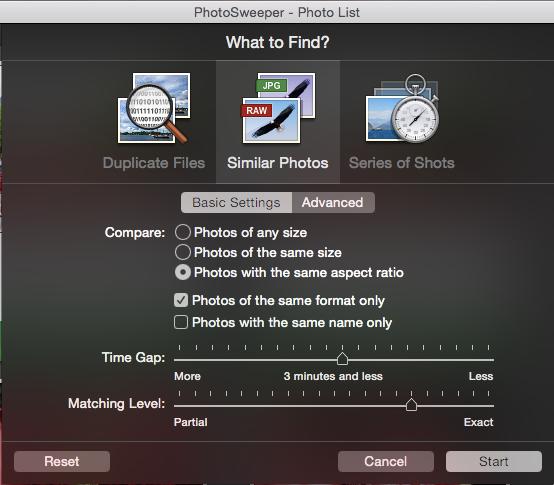 PhotoSweeper - Duplikate nach Ähnlichkeit (Basic)