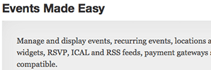 Events Made Easy for WordPress