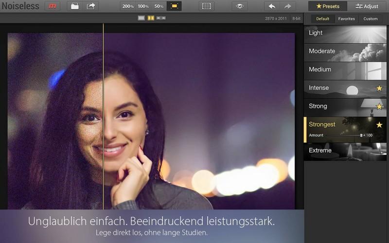 Noiseless - Unglaublich einfach und effektiv Bildrauschen entfernen