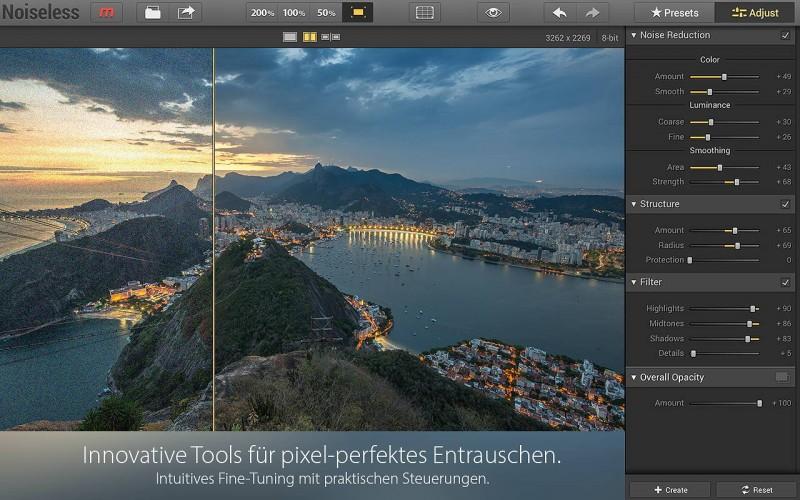 Noiseless - Bildrausch-Presets mit Profi-Fine-Tuning-Optionen