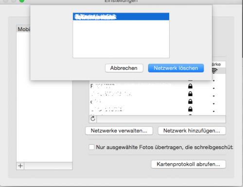 Eyefi Mobi Desktop Einstellungen (nur löschen vorhanden)