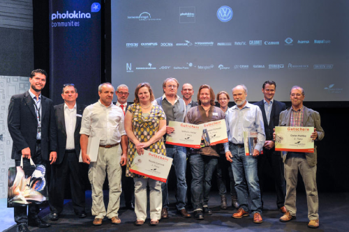 "photokina Fotowettbewerbe: Preisverleihung ""heartbeat of nature"" 2014, communities stage, Halle 9"