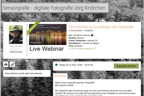 Live-Webinar - Live Online Schulung