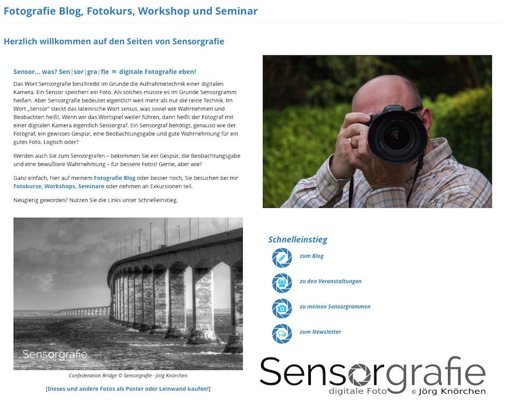 Sensorgrafie - Fotografie Blog, Fotokurs, Workshop und Seminar