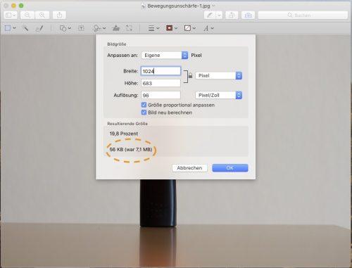 Bildgröße reduzieren auf Mac und PC