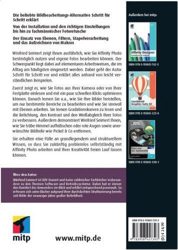 Rückumschlag: Affinity Photo © mitp Verlag