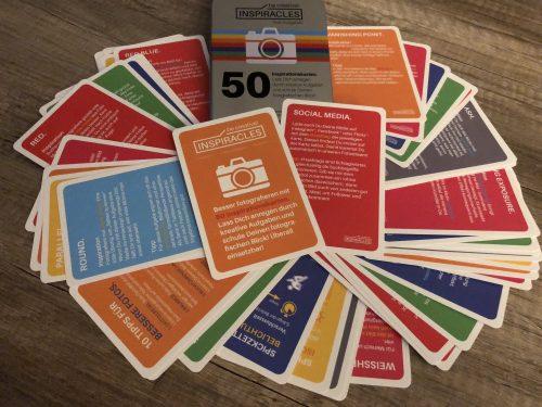 40 Inspirationen, 8 Lehrkarten und 2 Begleitkarten