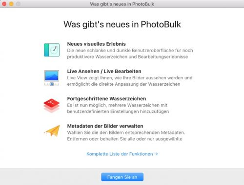 Neues in PhotoBulk Version 2.1