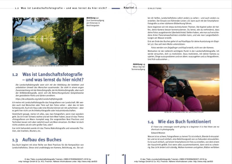 Landschaftsfotografie Tutorial Seiten 17/18