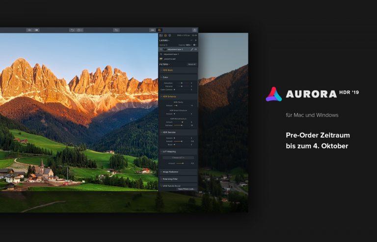 Aurora HDR 2019 kann vorbestellt werden!