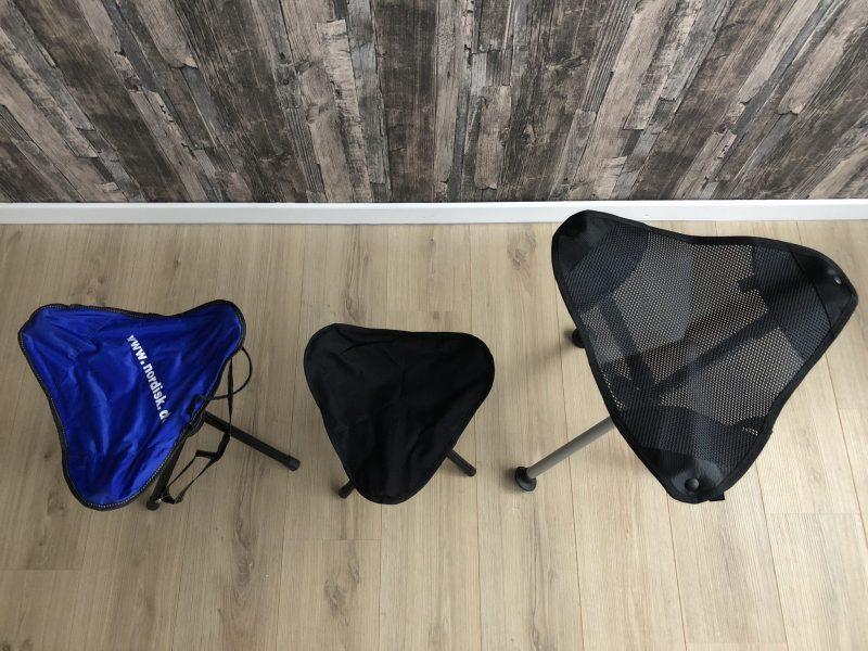 Dreibeinhocker Sitzflächenvergleich