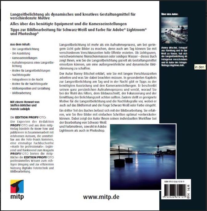 © mitp - Backcover Langzeitbelichtung und Nachtfotografie, Ronny Ritschel