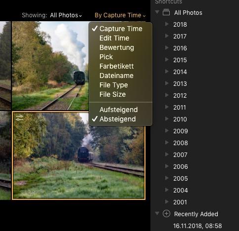 Mit Luminar 3 per Filter die Auswahl einschränken