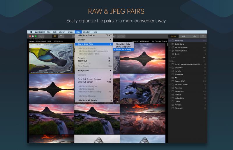 Luminar 3.1 nun mit JPG und RAW Verwaltung