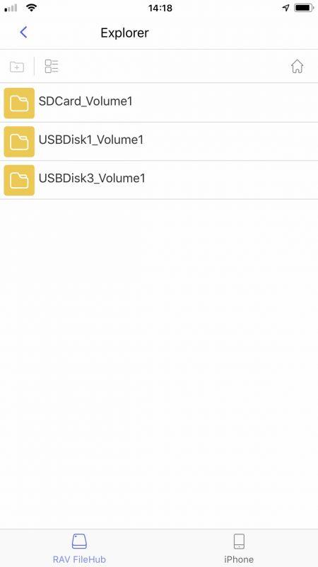 RAV FileHub Oberfläche Explorer