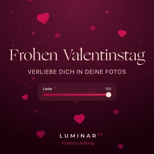 Luminar AI Valentinstag Banner