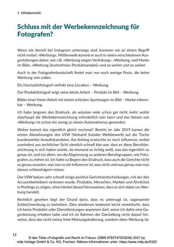 Seite 12 aus Fotografie und Recht im Fokus
