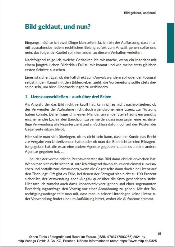 Seite 15 aus Fotografie und Recht im Fokus