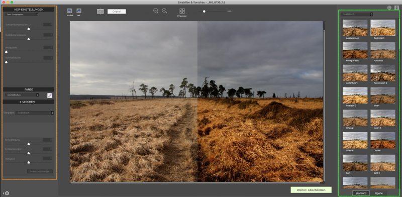Photomatix Pro HDR Einstellungen und Vorgaben